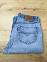 Men's Levi's 501 Classic Straight Leg Light Blue Jeans W33 L36 (#A709)