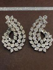 3,48 Cts Runde Brilliant Cut Natürliche Diamanten Creolen In Feines 14K Weißgold