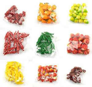 20pcs Realistic Lifelike Artificial Plastic Fruit Kitchen Home Fake Food De us