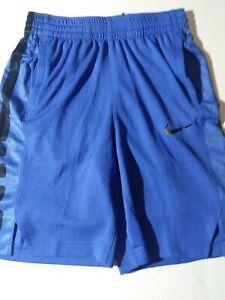 Boy's Size Large Nike Elite Dri Fit Basketball Shorts Blue Style AT3072 480