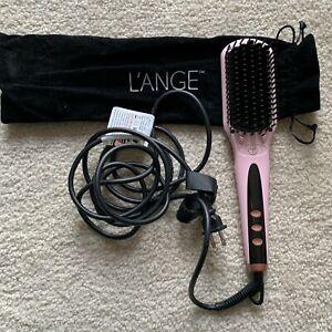 L'ange Le Vite Hairbrush Straightener Blush/ Rose Gold Hair Tool