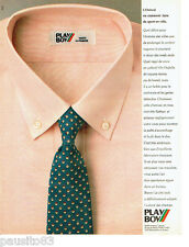 PUBLICITE ADVERTISING 056  1983  Les chemises homme Play Boy Oxford