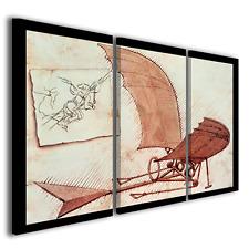 Stampe su tela Leonardo da vinci Flying Machine quadri moderni famosi ® quality