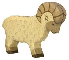HOLZTIGER 80071: Ram Sheep, Collectable Wooden Toy NEW