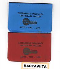 Vintage BC Fruit Growers Mutual Insurance Bank Wallets British Columbia 1955 -70
