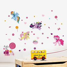 30*60cm My Little Pony Wall Stickers Ponies 3D Wallpapers Wall Decals  Removeable Part 81