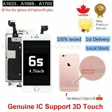 For iPhone 6S Replacement Digitizer LCD Touch Screen White Home Button Camera CA