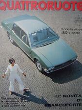 Quattroruote n°141 1967  - Test su strada Innocenti MINI - Iso 4 Porte  [Q79B]
