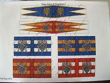 15 mm Médiéval Renaissance itallian guerres Papal drapeaux du pape Jules II (2)