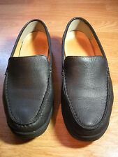 THE WALKING COMPANY Walking Shoes Size : 38 ( US 7 ) Black Leather LOAFERS
