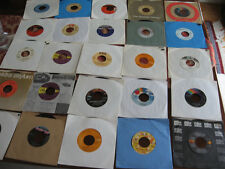 UNSEARCHED COLLECTION OF 25 RECORDS (45 RPM) WITH SLEEVES      LOT K