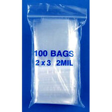 "1000 ZipLock Bags 2"" x 3"" Small Reclosable Clear Poly Plastic Jewelry Bag 2MIL"