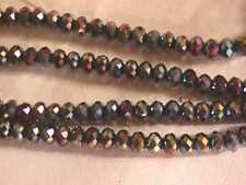 Bronze Purple Iris Faceted Rondelle Beads 6mm