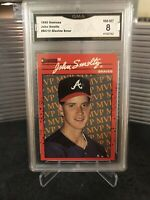 "1990 Donruss John Smoltz #BC12 ""Glavine Error"" GMA 8 NM-MT"