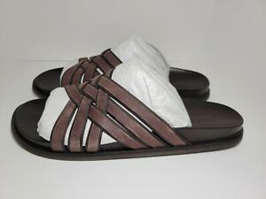 Mens Cole Haan Feathercraft Slides Sandals  Brown #C30862 Size 13 New with Box