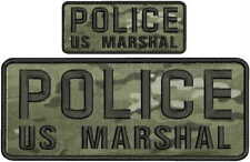 POLICE Us Marshal Embroidery Patches 4x10 and 2x5 hook multicam