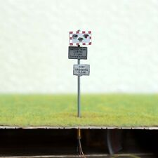 1 x OO / HO gauge Railroad Crossing Signal LEDs made UK standard light sign
