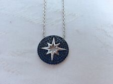 925 STERLING SILVER STAR  PAVE BLUE SAPPHIRE EVIL EYE  PENDANT NECKLACE+GIFT