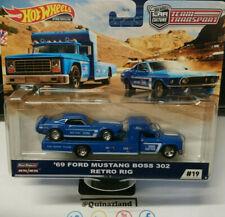 Hot Wheels Team Transport '69 Mustang Boss 302 Retro Rig  #19