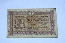 BILLET DE 50 CENTIMES CHAMBRE DE COMMERCE DE TARBES