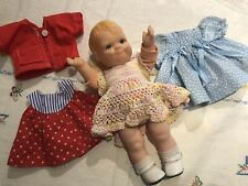 1991 Daisy Kingdom 12� Scootles style Doll Kewpie Family With 3 Outfits