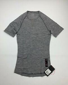 RAPHA Merino Base Layer Short Sleeve Grey Men's Small New