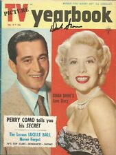 DINAH SHORE SIGNED 1959 TV YEARBOOK MAGAZINE BUTTONS BOWS GYPSY DINAH'S PLACE
