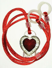 ADULTS Seniors 2 Hearing Aids longer Leash RETAINER CLIP against loss RED HEART