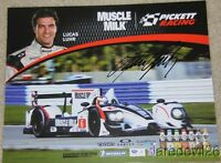 "2012 Lucas Luhr signed Muscle Milk Racing ""2nd issued"" Honda LMP1 ALMS postcard"