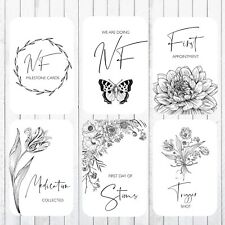 IVF Fertility Milestone Cards, 4x6 Photo Prop, 33 Cards, Floral