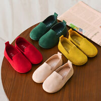Toddler Baby Kids Girls Solid Color Casual Single Leather Princess Child Shoes