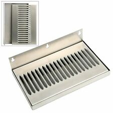 Draft Beer Wall Mount Drip Tray Stainless Steel No Drain 10w X 6h X 34d