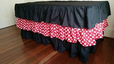 Mickey Mouse theme waterfall Black/ Polka Dot  tablecloth for Birthday parties