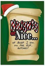 12 'On the List' Boxed Christmas Cards Funny Naughty Nice List B2536Xsg