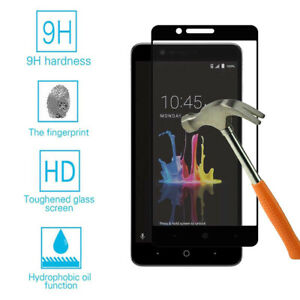 Black For ZTE Z982 Blade Z Max FULL COVER Tempered Glass Screen Protector
