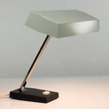 kantige Tisch Leuchte 60er 70er Jahre Metall Chrom alte Arbeits Lampe vintage