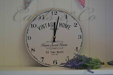 Vintage Home WALL CLOCKS Home Sweet Home