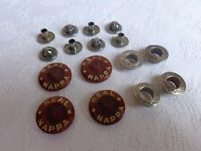 "VTG 4 RARE WW2 WWII MILITARY GERMAN LUFTWAFFE ""REAL NAPPA"" UNIFORM PUSH BUTTONS"