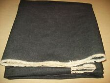 "Vintage~Black Denim~Cotton~Selvege~60""W x 3 yards~Fabric~Jean~Crafts~Yardage"