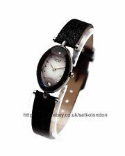 Omax Ladies Sunburst White/Black Cut Glass Watch, Seiko (Japan) Movt. RRP £49.99