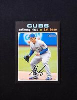 2020 Topps Heritage ANTHONY RIZZO MINI PARALLEL VARIATION #d /100 #373 Cubs