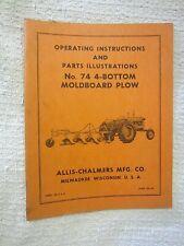 1950 60s Unused Allis Chalmers Operating Amp Parts No 74 4 Bottom Moldboard Plow