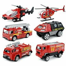 UU TOY toy minicar 1/87 fire automatic vehicle six set made of alloy