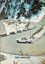 Triumph 1970-71 UK Market Brochure Herald 1500 Spitfire GT6 2000 2.5 TR6 Stag