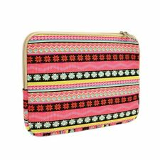 UNIK CASE-Snowflake Pink Bohemian Laptop Sleeve Bag for All 13-Inch Laptop