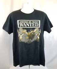 America's Most Wanted Mule Deer-Moose-White-Tail Deer Men's T-Shirt size L