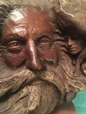 Vintage Rick Cain Sculpture Tree Faces Man/Woman/Hourglass Limited Edition 1986