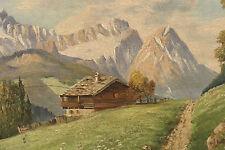 Karl ZIEGLER (1866-c.1935) Ölgemälde Alpspitze Zugspitze Wettersteingebirge Hütt