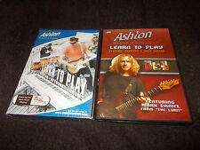 NEW SEALED DVD Ashton LEARN TO PLAY Electric Acoustic Bass Guitar Keyboard Drums