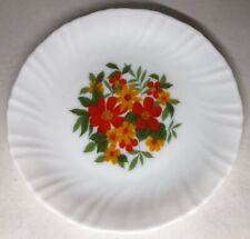 Lot76:6 Pequeñas Platos Planas Vintage Arcopal Francia. 19CM Decoración Floral